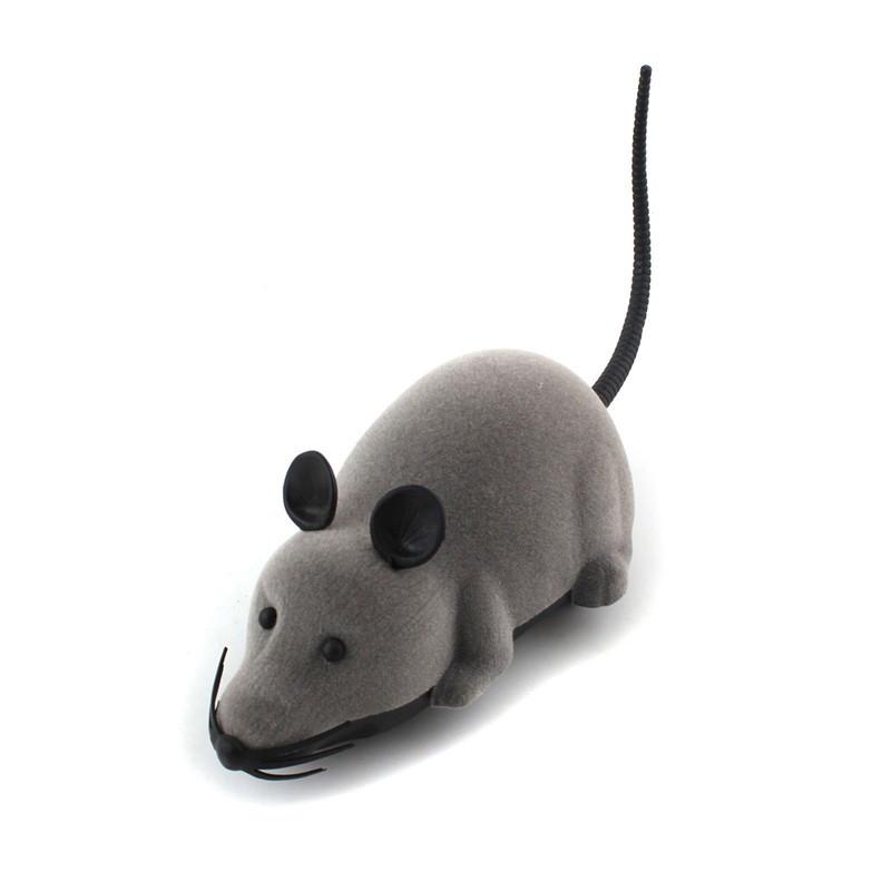 🔝 Игрушка для домашних питомцев на радиоуправлении Мышь Серый  | 🎁%🚚