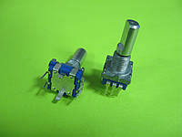 Энкодер для аудиотехники RE11(EC11), 360° вращение, 5 pin с кнопкой, L=20mm