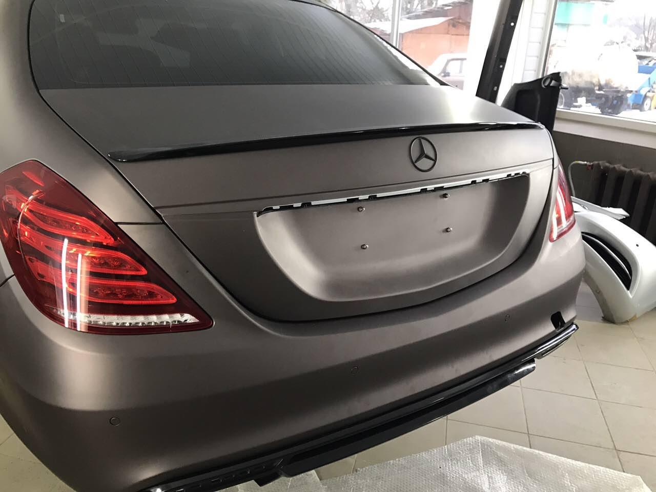 Спойлер сабля тюнинг Mercedes w222 стиль AMG