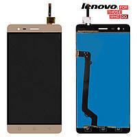 Дисплейный модуль (дисплей + сенсор) для Lenovo Vibe K5 Note A7020, золотистый, оригинал