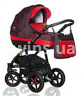 Детская коляска VERDI PEPE Eco Plus 3/1, 02 крас кожа/графит