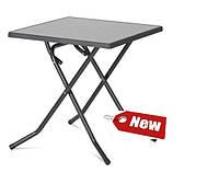 Стол  квадратный раскладной DINE pizzara / antracyt  70х70х72см