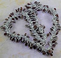 Камни Индии.Шикарное колье в стиле винтаж с кварцами