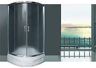 Душевая кабина полукруглая BADICO SAN 9018 Fabric 90х90х195 с поддоном и сифоном