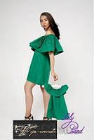 Одинаковые платья с воланом для мамы и дочки
