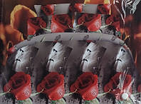 Постельное белье AX 5D Сатин Евро D7