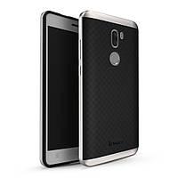 Чехол накладка IPAKY TPU + бампер PC для Xiaomi Mi 5s Plus серебро