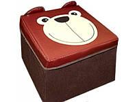 Детский пуф, Зоопар, медведь, УкрОселя, BOC078618, 593018