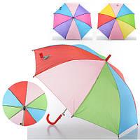 Зонтик детский, трость,ткань,3 цвета, MK 0356