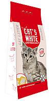 Наполнитель туалетов для кошек Кетс Вайт (Cat's White Natural), бентонит без запаха, 5 кг \ 6 л