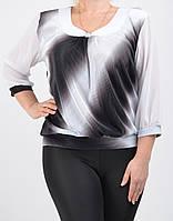 Красивая женская блуза с шифоновым рукавом 1800