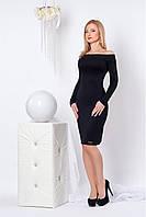 Нарядное трикотажное женское платье размеры 44,46,48,50