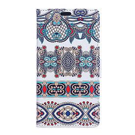 Чехол книжка для Meizu U20 боковой с отсеком для визиток, Классический орнамент