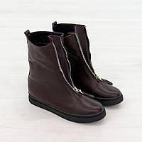 Ботинки из натуральной кожи с мехом