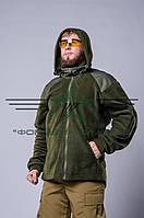 Кофта (куртка) олива флис, фото 1