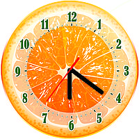 Настенные часы для кухни Апельсин
