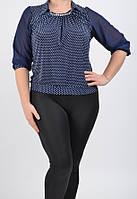 Нарядная женская блузка большого размера 01801