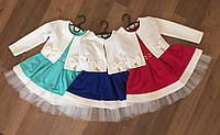 Нарядное детское платье с бантиками 3110