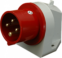 Штепсель встраиваемый IR (IP 44), 32A, 400V, 4 полюса (IR 3243)