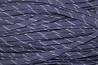 Шнур плоский 10мм (100м) т.синий+св.серый, фото 1