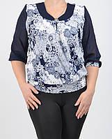 Нарядная женская блуза  большого размера 0183