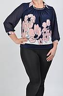 Женская блузка с цветочным принтом 0185