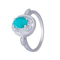 """Серебряное кольцо с изумрудом """"Первая любовь"""""""