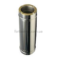 Труба дымоходная утеплённая нерж/нерж 250/320мм 1м, 0,6мм
