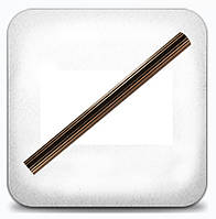 Труба рифлёная 2,0м д.25мм медь