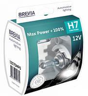 "Автомобильные галогенные лампы ""Brevia"" (H7)(Max Power)(+100%)(3900K)(12V)(55W), фото 1"