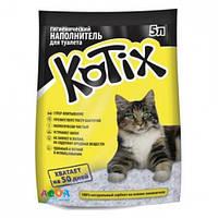 KOTIX (Котикс) Силикагелевый наполнитель туалетов для кошек, 5л (2.17кг)