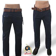 Мужские брюки-джинсы с ремнём Catenvin тёмно-синего цвета 37 размер