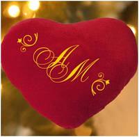 Подушка-сердце с Вашими инициалами