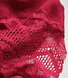 Жіночий шарфик з ажурним краєм 200 на 85 dress РС3316_вишня, фото 2