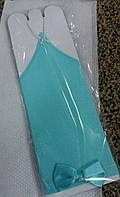 Перчатки детские нарядные с бантиком (нежно-зеленые)