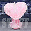 Свеча свадебная Сердце розовая, 10 х 7,5 см.