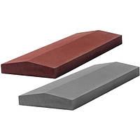 Крышка бетонная  заборная 650х175х60мм,коричневая