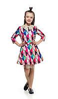 Стильное детское платье с оригинальным воротничком 3122