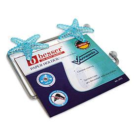 Бумагодержатель Besser универсальный 16.5*9.5*2см на присосках