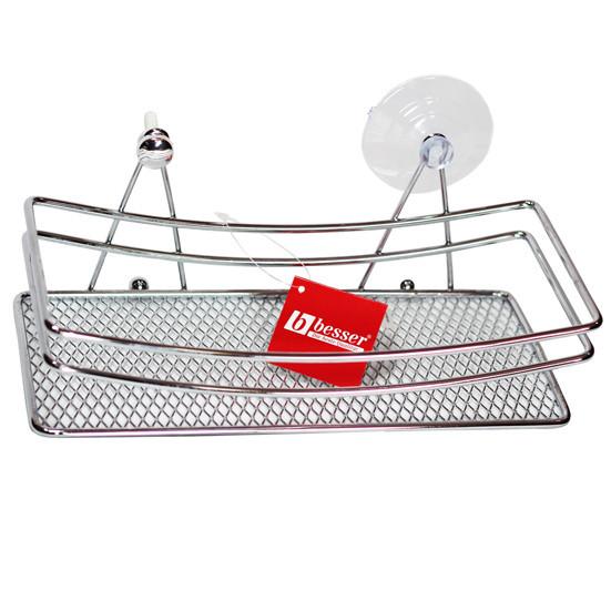 Полка для ванной Besser прямоугольная 25х11х9см KM-0502