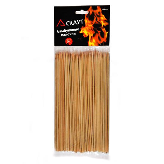 Набор Скаут из 100 бамбуковых палочек по 25см KM-0736