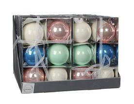 Елочные шарики Ø8см (комплект 6шт)