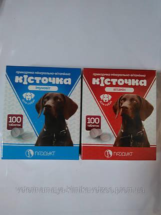Витамины для собак Косточка иммуновит 100таб., фото 2