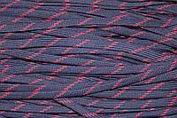 Шнур плоский 10мм (100м) т.синий+красный , фото 1