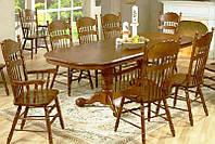 Стол обеденный раскладной 4296-3 дуб кантри 160х106х75см + 2 вставки по 40см