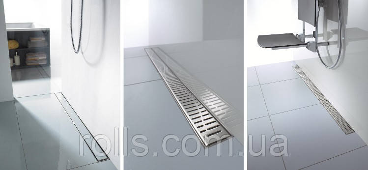 Линейный трап для душа из нержавейки с решеткой 785мм C-line