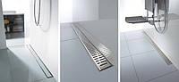 Линейный трап для душа из нержавейки с решеткой 785мм C-line , фото 1