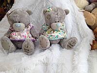 Мягкая игрушка Мишка teddy в платье,16 см