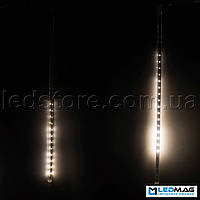 Светодиодная гирлянда Падающая капля (тающая сосулька), 8шт*50см, 3,7м 384 LED, ПВХ Белый