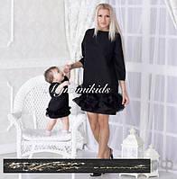 Эксклюзивный набор платьев мама и дочка с гипюром